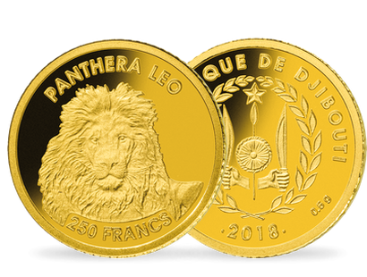 Monnaie en or « Le Lion »