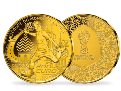 Monnaie 200 Euros or « Coupe du monde de la FIFA 2018 TM » France
