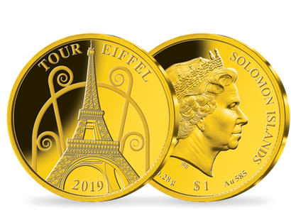 Monnaie en or « Tour Eiffel »