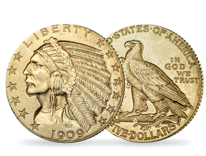 5-Dollar-Goldmünze ''Indian Head''