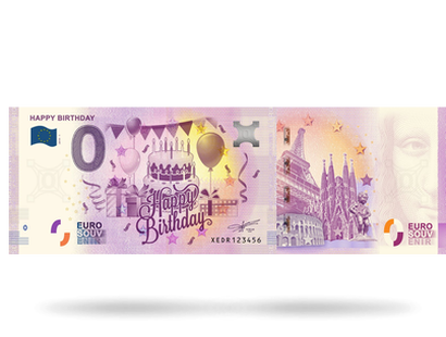0-Euro-Schein ''Happy Birthday''
