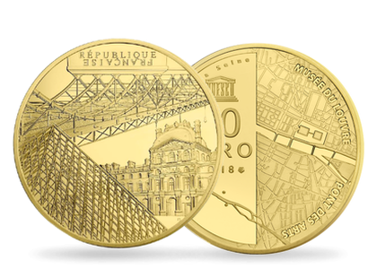 Monnaie de 50 Euros en or pur «UNESCO - Rives de Seine» 2018