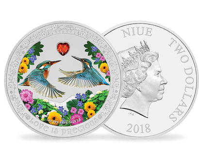 "Monnaie argent ""Love is precious"" Niue 2018"