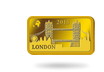 ''London - Tower Bridge'', 2015 - die offizielle Gold-Barrenmünze