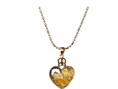 Collier « Coeur Feuille d'or »