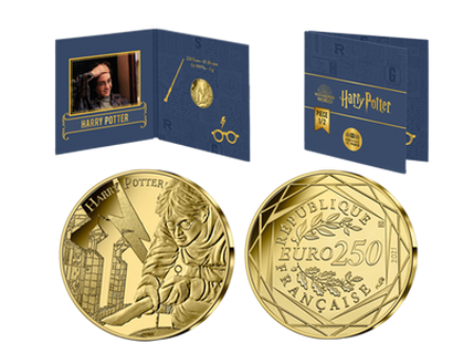 Monnaie officielle 250 Euros en or pur  «Harry Potter 1/2» 2021