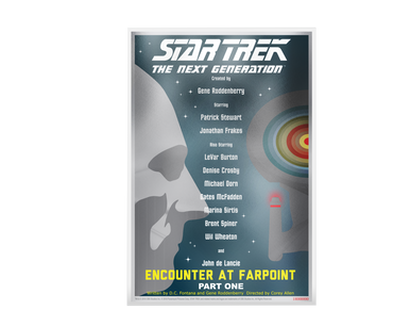 "Billet en argent pur «Star Trek: The Next Generation - ""Encounter At Farpoint, Pt. I""» Niue 2018"