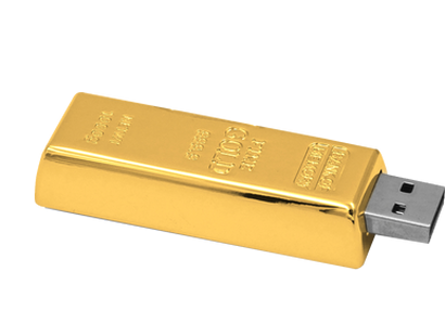 Der absolute Knaller: Der USB-Stick in Goldbarren-Optik 32GB