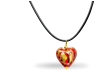 "Collier ""Endless Love"" aus echtem Murano-Glas - rot"