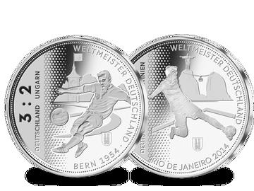 Der offizielle 2er-Silber-Satz zu Ehren der deutschen WM-Titel