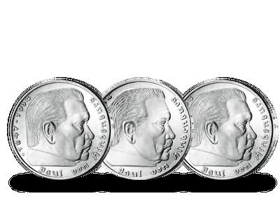 Alle Hindenburg-Münzen des Dritten Reichs