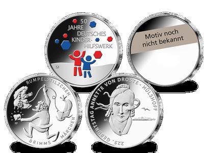Die neuen deutschen 20-Euro-Silber-Gedenkmünzen 2022 – Stempelglanz