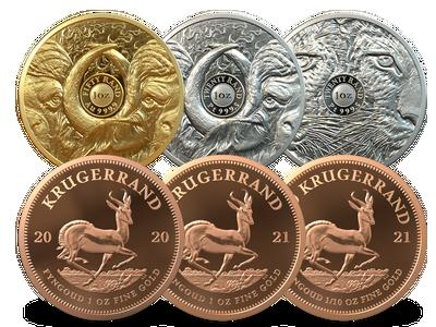 Südafrika 2020 + 2021: Die begehrtesten Gold- und Platinmünzen