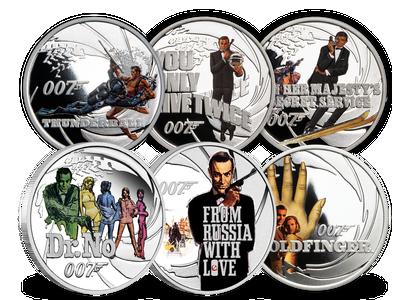 Mit der Lizenz zum Sammeln – die offiziellen Silbermünzen James Bond