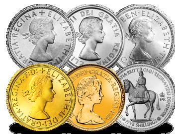 Großbritannien & Commonwealth Umlaufmünzen 1953-1984 Elisabeth II.