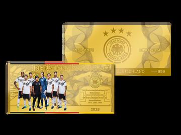 Der offizielle Gold-Flatbar des DFB