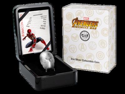 Die Spider-Man-Maske in reinstem Silber mit edler Sammlerbox und Echtheitszertifikat!