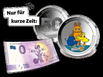 Set Silber-Jubiläumsausgabe & 0-Euro-Banknote