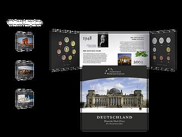 Bundesrepublik Deutschland – komplette Kursmünzensätze in D-Mark und Euro - Ihre Startlieferung: