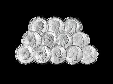 12er-Set Silbermünzen Europäischer Kaiser und Könige