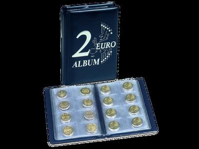 Dies ist das handliche Taschenalbum für 48 x 2-Euro-Münzen