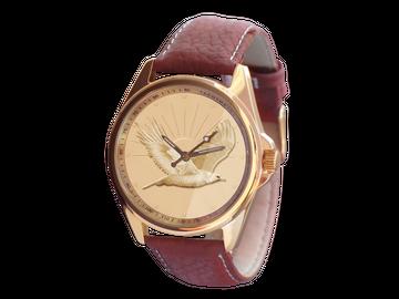 Die Leder-Armbanduhr