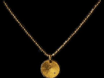 Vergoldete Silber-Kette mit 0,5g Gold Anhänger