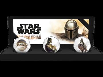 """3er-Set """"STAR WARS™: THE MANDALORIAN™ II"""" mit Silber- und Farbveredelung!"""