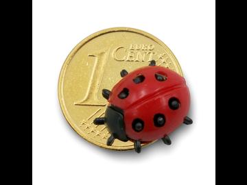 Centmünze mit 24k Vergoldung und possierlichem Glückskäfer.