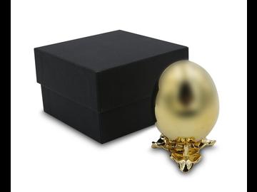 Fabergé hätte seine Freude daran: Das luxuriöse Deko-Ei mit 24k Vollvergoldung
