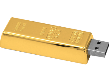 Der absolute Knaller: Der USB-Stick in Goldbarren-Optik 32GB