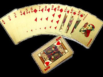 Poker wie in Las Vegas! - Kartenspiel in Gold-Optik