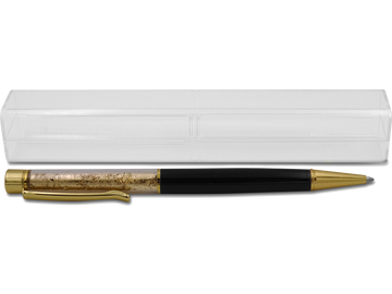 Eleganter Kugelschreiber mit edler Goldfolien-Imitation
