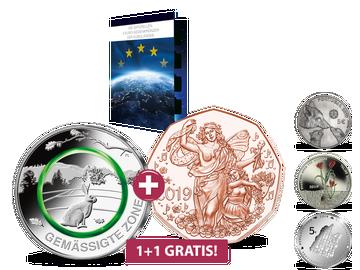 2 Münzen zum Preis von 1 - Jetzt die offiziellen 5-Euro-Gedenkmünzen der Euro-Länder sammeln