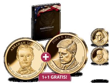 Die Präsidenten Dollars der USA - Start: 2 für 1: Lincoln + Kennedy