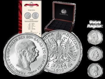 Original-Silbermünzen berühmter Kaiser und Könige - Start: Kaiser Franz Joseph von Österreich!