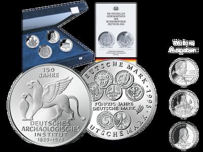 Die Sammlung der deutschen 5- und 10-DM-Gedenkmünzen in Polierte Platte