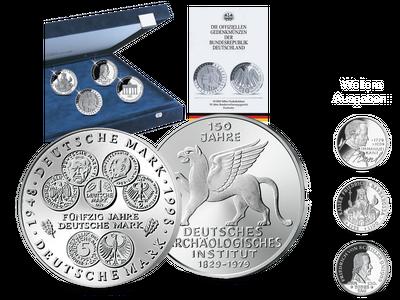 Die Sammlung der deutschen 5- und 10-DM-Gedenkmünzen in Stempelglanz