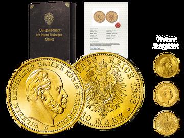 Historische Original-Goldmünzen der drei letzten deutschen Kaiser - Start: Kaiser Wilhelm I.