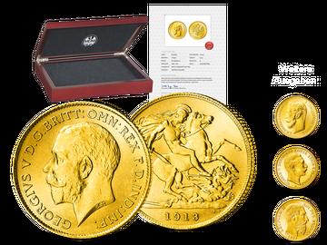 10 Goldmünzen europäischer Kaiser und Könige - Ihr Start: Großbritannien 1/2 Sovereign Georg V.