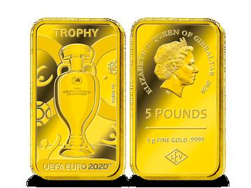 """Die größte Goldbarren-Münze """"Trophäe"""" zur UEFA EURO 2020™!"""