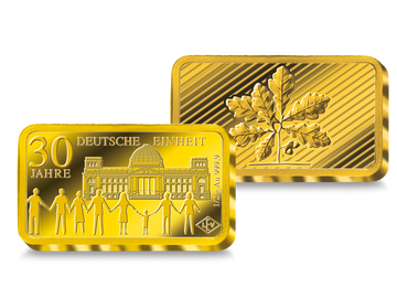 Goldbarren – 30 Jahre Deutsche Einheit