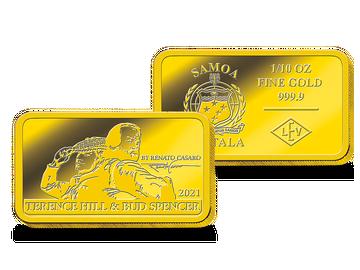 """Krönen Sie Ihre Sammlung: mit der Goldbarren-Münze """"Terence Hill & Bud Spencer – Die Legenden""""!"""