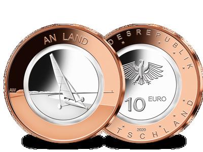 Die 10-Euro-Münze mit Polymer-Ring