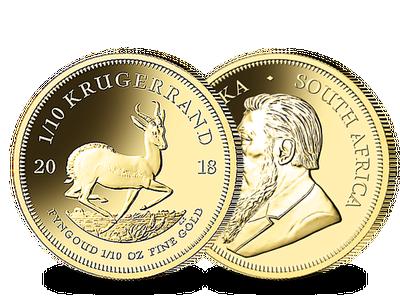 Der 1/10 Unzen-Gold-Krügerrand 2018