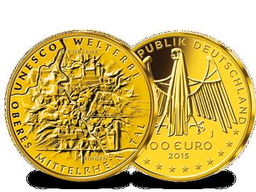 Deutsche 100-Euro-Goldmünze 2015