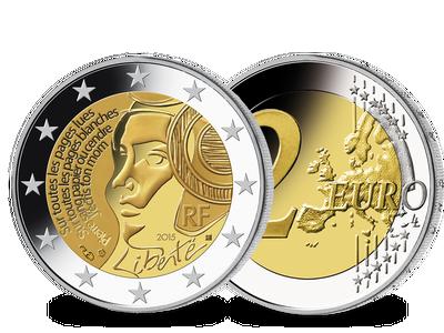 Die 2-Euro-Münze aus Frankreich