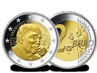 Die 2-Euro-Gedenkmünze 'François Mitterrand' 2016