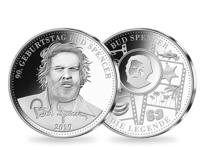 Die Silberprägung 90. Geburtstag Bud Spencer