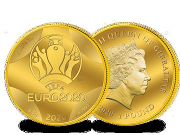 """Die Gold-Gedenkmünze """"Offizielles Emblem"""" der UEFA EURO 2020™!"""